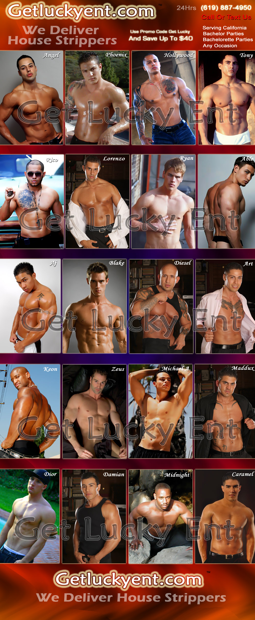 Get Lucky Entertainment Male Strippers